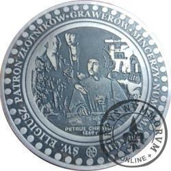 100 miedziaków numizmatycznych (miedź posrebrzana, oksydowana) - św. Eligiusz