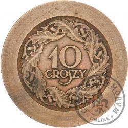 10 groszy - brąz rewers