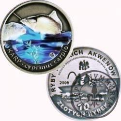 10 złotych rybek (alpaka + tampondruk) -  IV emisja / KARP