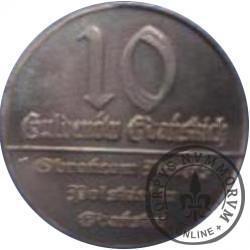 10 guldenów gdańskich (tombak - próba)