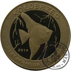 10 złotych rybek - Pomorze Zachodnie / Kołobrzeg ~ Skalar (I emisja - mosiądz patynowany)