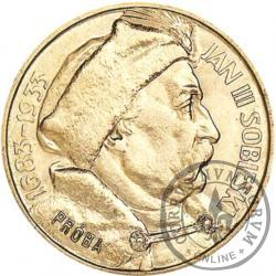 10 złotych - Sobieski PRÓBA st. L