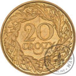 20 groszy - mosiądz
