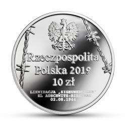 10 złotych - 75. rocznica zagłady Romów i Sinti