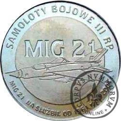 2 polskie skrzydła / MIG 21 (mosiądz)