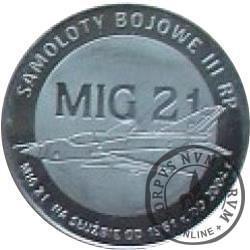 2 polskie skrzydła / MIG 21 (stal szlachetna)