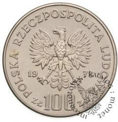 100 złotych - bóbr na trawie