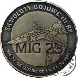 2 polskie skrzydła / MIG 23 (mosiądz oksydowany)