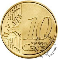 10 euro centów - Benedykt XVI