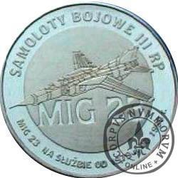 2 polskie skrzydła / MIG 23 (mosiądz)