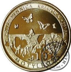 10 motylków / Rusałka pokrzywnik (VII emisja - mosiądz)