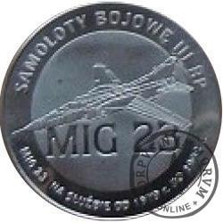 2 polskie skrzydła / MIG 23 (stal szlachetna)