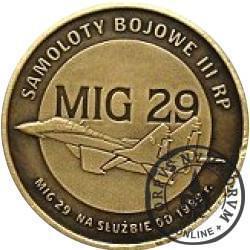 2 polskie skrzydła / MIG 29 (mosiądz oksydowany)