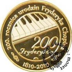 200 fryderyków (golden nordic z tampondrukiem)