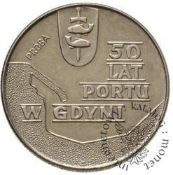 10 złotych - port w Gdyni - kontur groszkowany