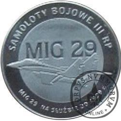 2 polskie skrzydła / MIG 29 (stal szlachetna)