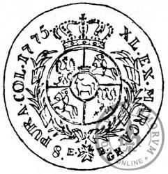 dwuzłotówka - 8 groszy (G zamiast L)