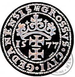 grosz gdański oblężniczy 1577 - replika Ag