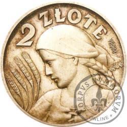 2 złote - Ag PRÓBA st. zw.