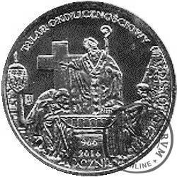 talar okolicznościowy (1050. Rocznica Chrztu Polski / OBCHODY - miedź posrebrzana)