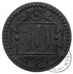 10 fenigów - mała liczba Zn