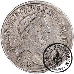 szóstak koronny - popiersie w płaszczu, herb w owalu, IV