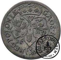 szóstak koronny - popiersie w płaszczu, herb w owalu, IV, kropka