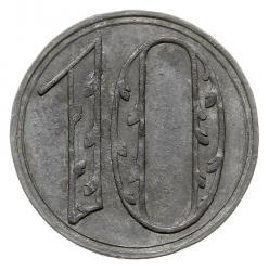 10 fenigów - duża liczba Zn