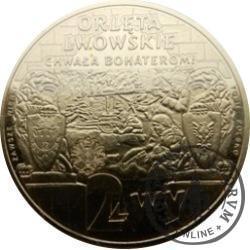 2 lwy - ORLĘTA LWOWSKIE (mosiądz)
