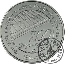 200 fryderyków (alpaka z tampondrukiem)