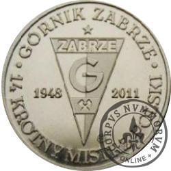 Górnik Zabrze - 14 krotny Mistrz Polski (mosiądz)