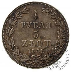 3/4 rubla - 5 złotych M-W