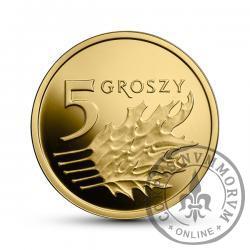 5 groszy - złoto