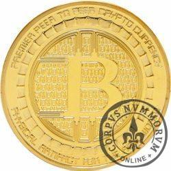 Bitcoin (BTC) - ANONYMOUS MINT / (miedź pozłacana)