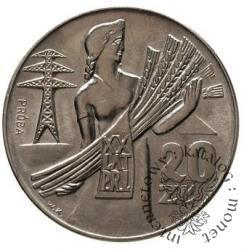20 złotych - kobieta - orzeł i daty