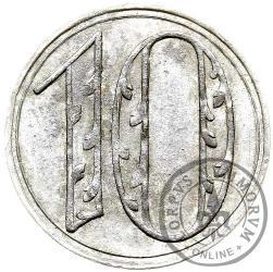 10 fenigów (srebro - liczba bez ornamentu)