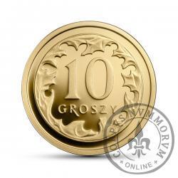 10 groszy - złoto