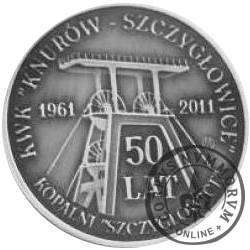 Jubileusz 50-lecia Kopalni Szczygłowice (mosiądz srebrzony oksydowany)
