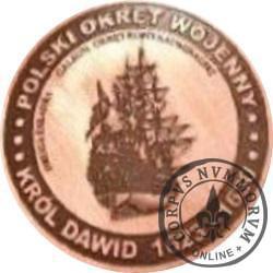 20 bitewnych - BITWA MORSKA POD OLIWĄ (1627) OKRĘTY - Król Dawid / WZORZEC PRODUKCYJNY DLA MONETY (miedź patynowana)