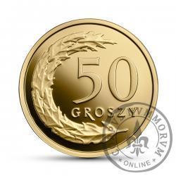 50 groszy - złoto