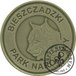 2 rysie / Bieszczadzki Park Narodowy (mosiądz oksydowany)