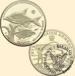 10 złotych rybek (mosiądz) -  VI emisja / LESZCZ