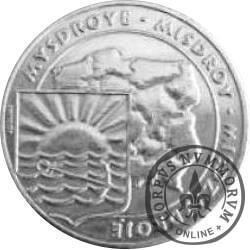 5 ludwików międzyzdrojskich  - mosiądz (M) posrebrzany / Międzyzdroje - WEJŚCIE NA MOLO