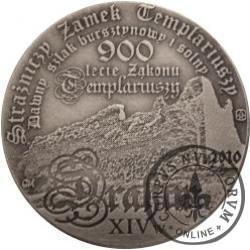 10 drahim / 900. LECIE ZAKONU TEMPLARIUSZY (mosiądz srebrzony oksydowany)