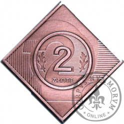 2 złote - klipa Cu