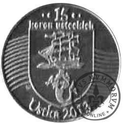 15 koron usteckich (III emisja - mosiądz posrebrzany)