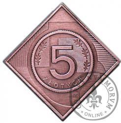 5 złotych - klipa Cu