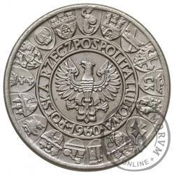 100 złotych - Mieszko i Dąbrówka - postacie, tło siatkowe, Ag PRÓBA