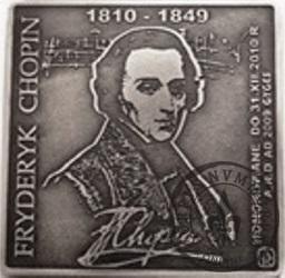 1000 chopinów / Fryderyk Chopin - PRÓBA (klipa - miedź srebrzona oksydowana)