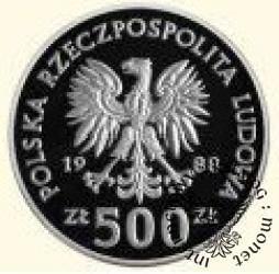 500 złotych - XIV Mistrzostwa Świata w Piłce Nożnej Włochy 1990